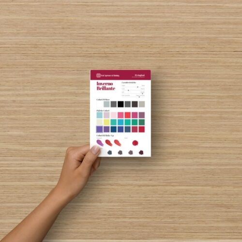 Palette colori cartolina formato A6