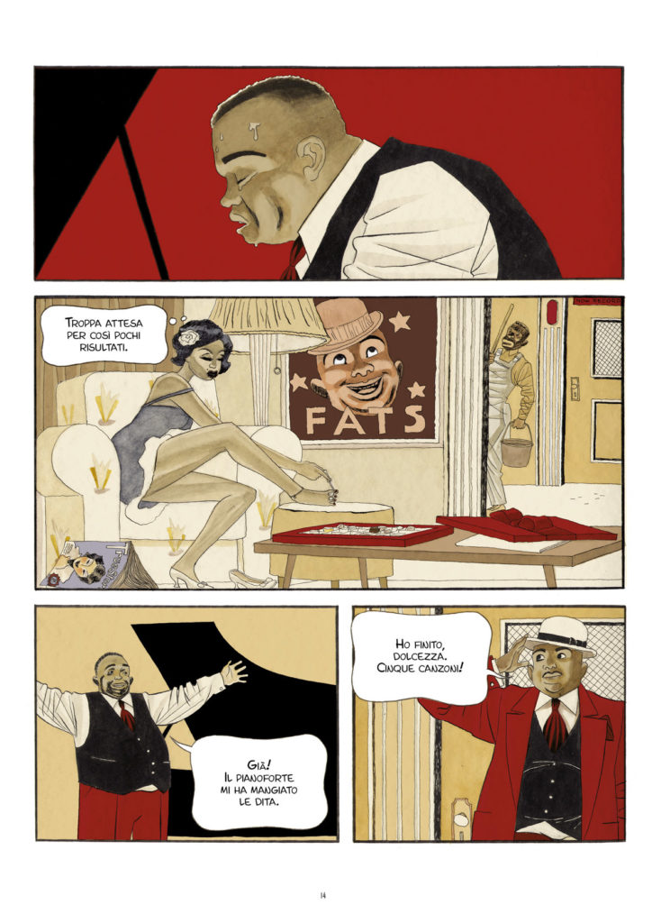 "Una pagina del fumetto ""Fats Waller"" di Igort  & Sampayo"